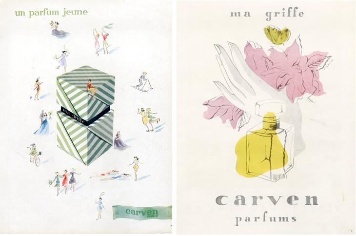 Постеры Carven Ma Griffe 1946 год