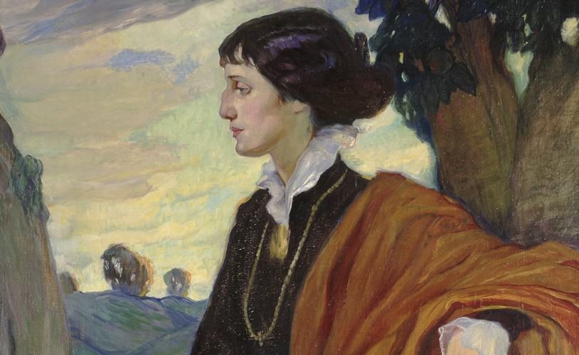 О. Кардовская. Портрет А. Ахматовой, 1914