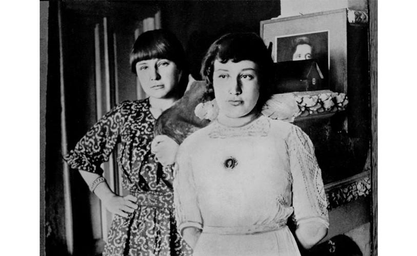 Марина и Анастасия Цветаевы в 1914 году