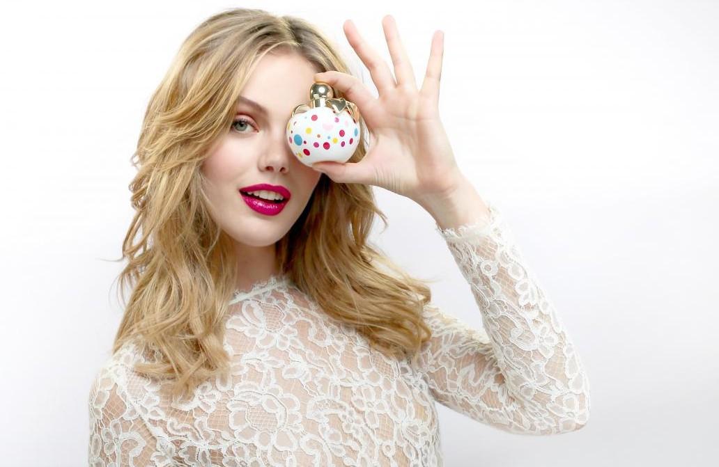 Фрида Густавссон в рекламе аромата Nina Pop