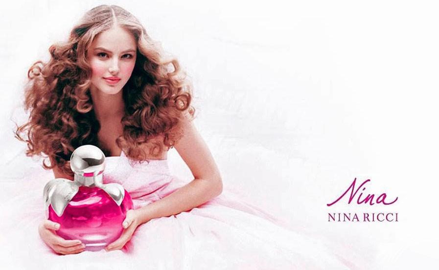 Руслана Коршунова в рекламной кампании Nina Ricci