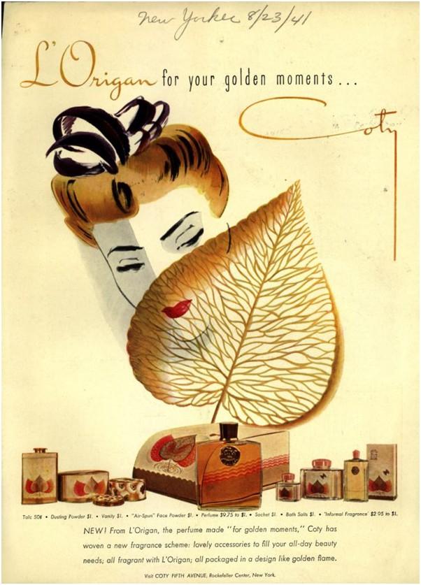 Рекламный плакат L`Origan от Coty, 1941