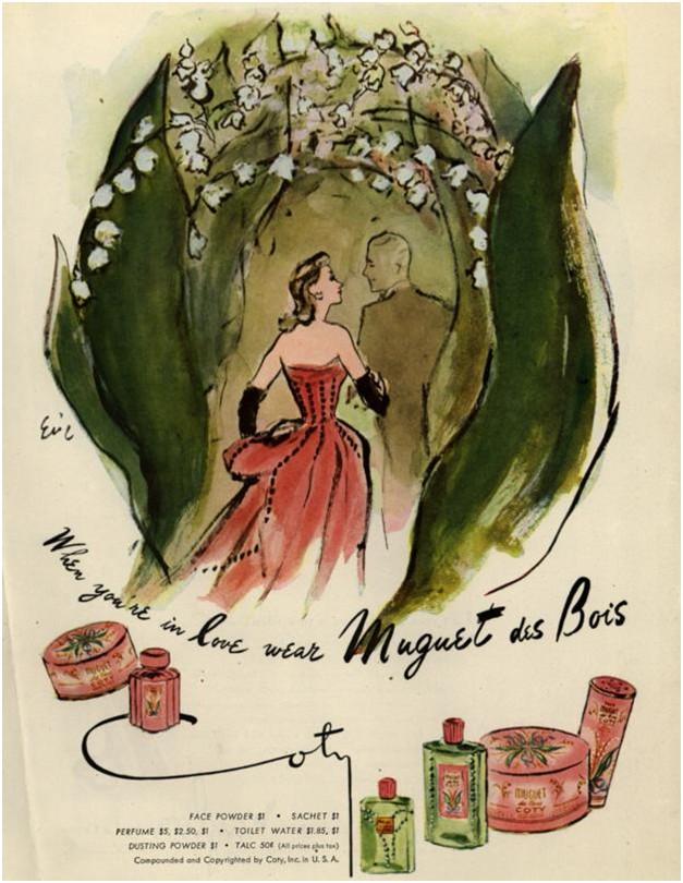 Рекламный плакат Muguet des Bois, 1947
