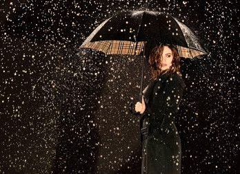 Лили Джеймс в рекламной кампании My Burberry Black