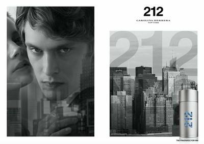 Постер Carolina Herrera 212 Men Aqua