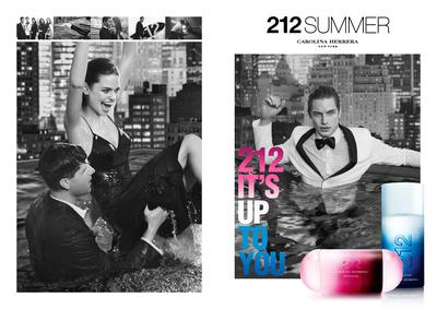 Постер Carolina Herrera 212 Summer