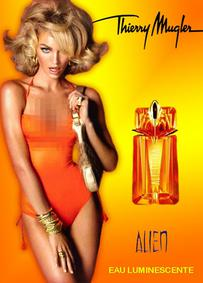 Постер Mugler Alien Eau Luminescente