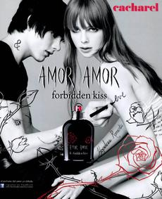 Постер Cacharel Amor Amor Forbidden Kiss