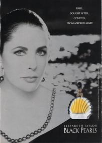 Постер Elizabeth Taylor Black Pearls