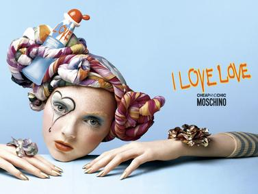 Постер Moschino Cheap And Chic I Love Love