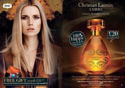 Постер Avon Christian Lacroix Ambre For Her