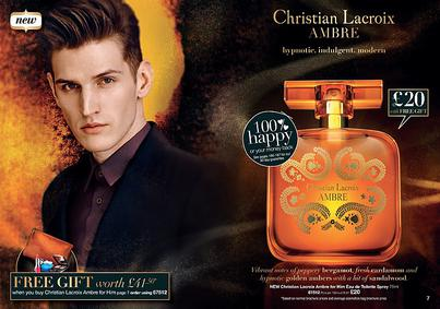 Постер Avon Christian Lacroix Ambre For Him