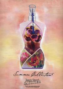 Постер Jean Paul Gaultier Classique Eau d'Ete 2001