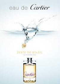 Постер Eau de Cartier Zeste de Soleil