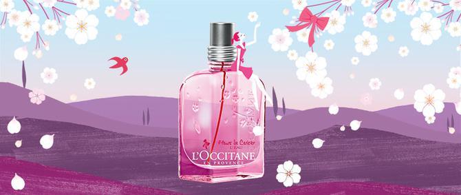 Постер L`Occitane Fleurs de Cerisier L`Eau