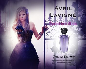 Постер Avril Lavigne Forbidden Rose