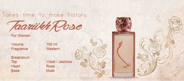 Постер Junaid Perfumes Taariikh Rose