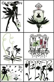 Постер Guerlain La Petite Robe Noire Ma Robe Pétales Eau Fraîche