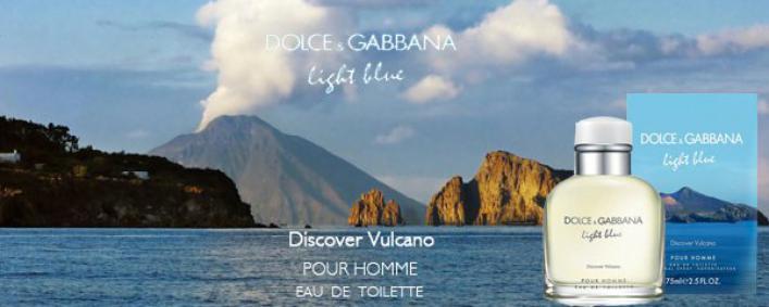 Постер Dolce&Gabbana Light Blue pour Homme Discover Vulcano