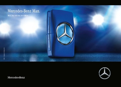 Постер Mercedes-Benz Mercedes Benz Man Blue