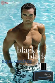 Постер nuparfums Black Is Black Aqua Essence