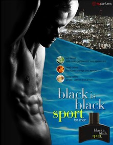 Постер nuparfums Black Is Black Sport