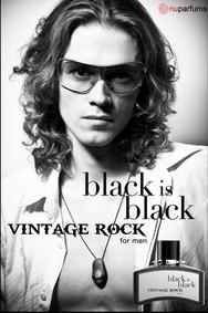 Постер nuparfums Black Is Black Vintage Rock