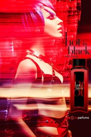 Постер nuparfums Hot Is Black Pour Femme