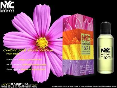 Постер nuparfums Nyc Parfum Heritage Nº 521 - Central Park Floral Edition