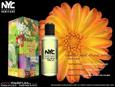 Постер nuparfums Nyc Parfum Heritage Nº 522 - Central Park Floral Edition