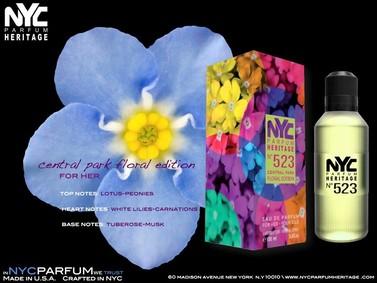 Постер nuparfums Nyc Parfum Heritage Nº 523 - Central Park Floral Edition