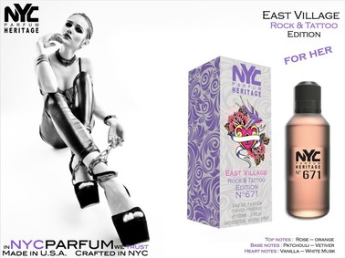 Постер nuparfums Nyc Parfum Heritage Nº 671 - East Village Rock & Tattoo Edition