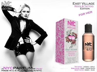Постер nuparfums Nyc Parfum Heritage Nº 672 - East Village Rock & Tattoo Edition
