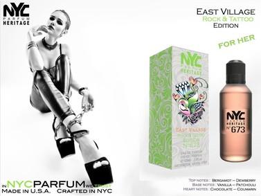 Постер nuparfums Nyc Parfum Heritage Nº 673 - East Village Rock & Tattoo Edition