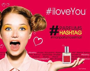 Постер Parfum Hashtag #iloveYou