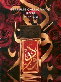 Постер Aramis Perfume Calligraphy Rose