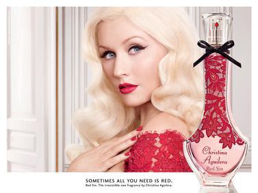 Постер Christina Aguilera Red Sin