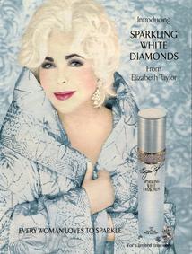 Постер Elizabeth Taylor Sparkling White Diamonds